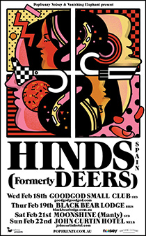 HINDS formerly DEERS AUSTRALIAN TOUR FEBRUARY '15